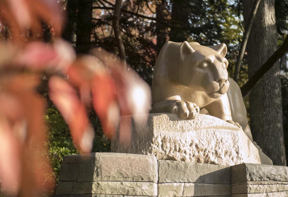 Nittant Lion statue